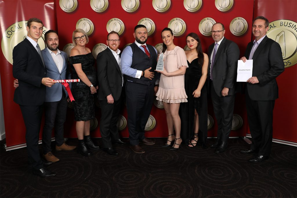 Team photo of Hill & Viteri Property staff winner small business awards