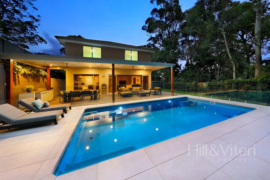 Rear Entertaining and Pool